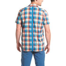 Maier Sports Halos Blouse korte mouwen Heren, blue/orange/reflecti